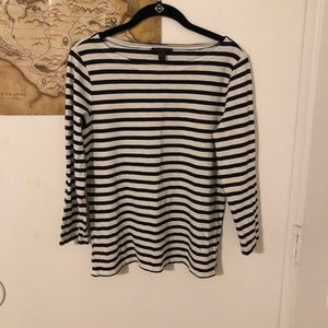 J. Crew Boat Necked Striped Tee